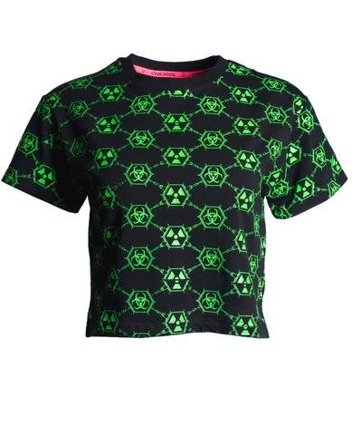 GIRLS EASY TEE TOXIC MONOGRAM
