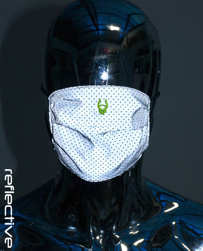 FOLDED MASK REFLECTIVE W FILTER by Cyberdog - Rave clothing, festival fashion & clubwear.