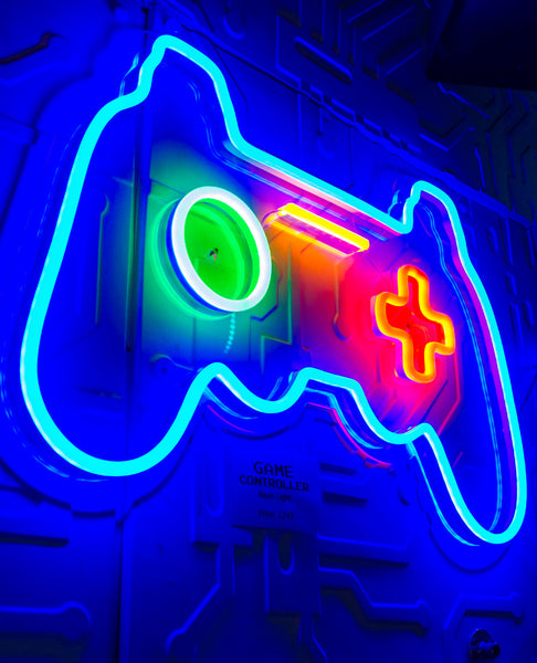Neon wall lights cyberdog game controller neon light aloadofball Image collections