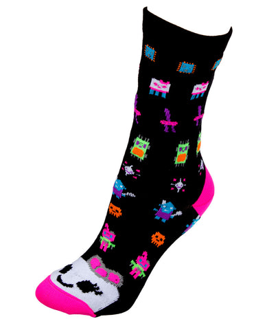 GIRLS ROBOT SOCKS SHORT