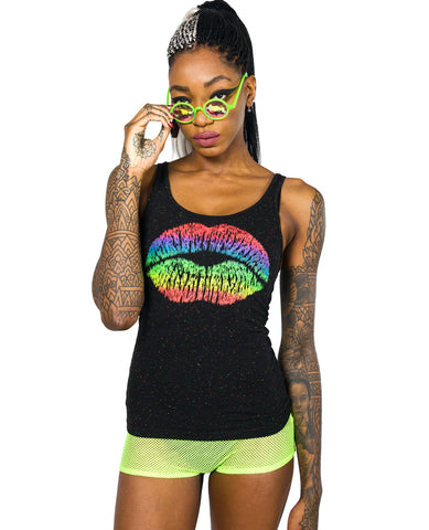GIRLS VEST RAINBOW LIPS