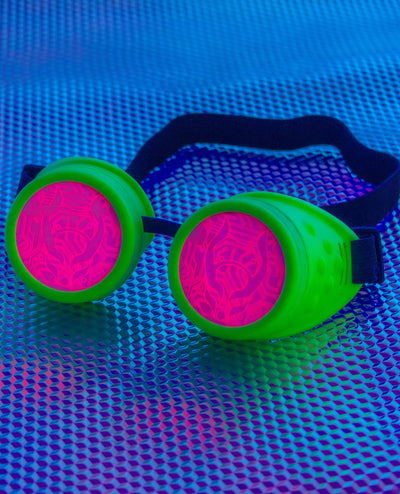 CB DUO GLOW IN THE DARK GOGGLE by Cyberdog - Rave clothing, festival fashion & clubwear.