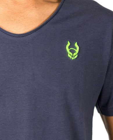 HEX V NECK LOGO