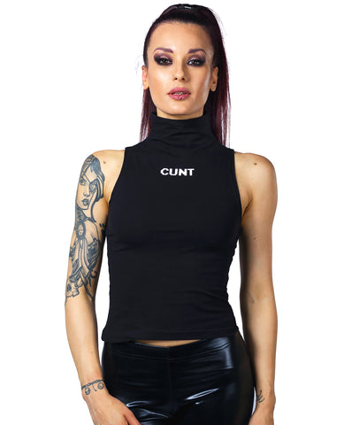 WOMENS HIGH NECK CUNT