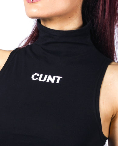 WOMENS HIGH NECK CUNT TOP