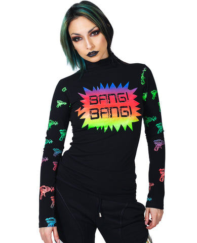 HIGH NECK L/S TOP BANG BANG