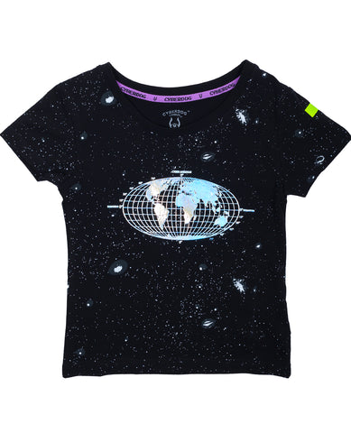 KIDS GIRL S/S HOLO EARTH
