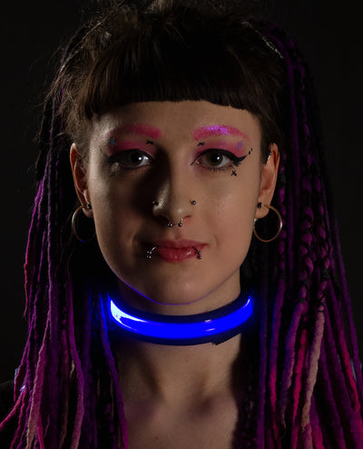LED COLLAR by Cyberdog - Rave clothing, festival fashion & clubwear.