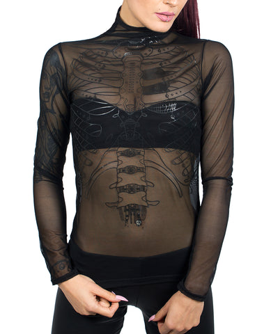 LAYER MESH L/S TOP RIB CAGE