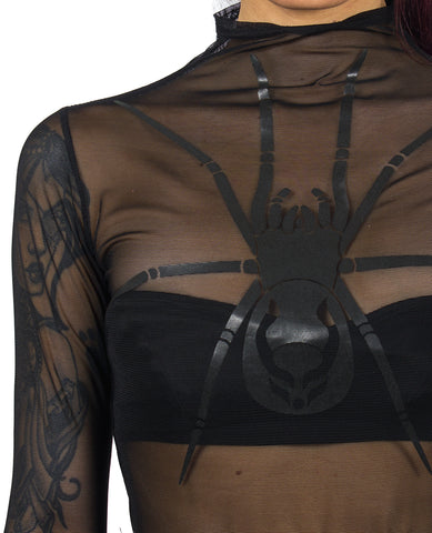 WOMENS LAYERED BODY SPIDER