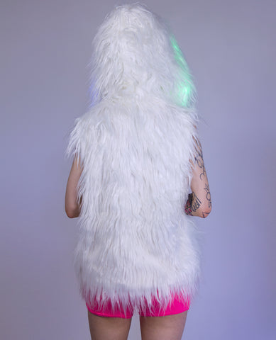 LIGHT UP FUR GILET SHORT