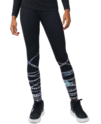LOCK N CHAIN LEGGINGS by Cyberdog - Rave clothing, festival fashion & clubwear.
