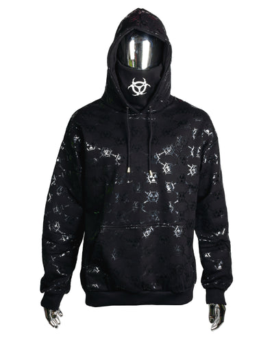 MASK HOODIE TOXIC MONOGRAM by Cyberdog - Rave clothing, festival fashion & clubwear.