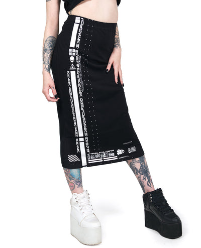 STRETCH MAXI SKIRT NEO FUTURE by Cyberdog - Rave clothing, festival fashion & clubwear.