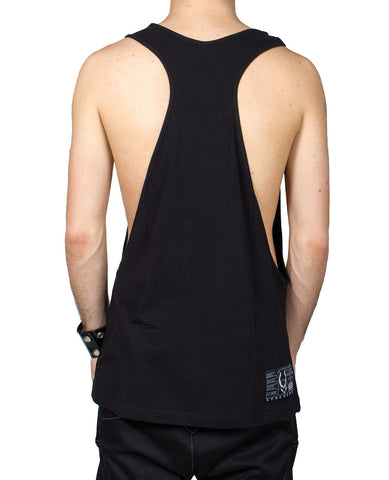 MENS CUT OUT VEST MECH LIZZARD