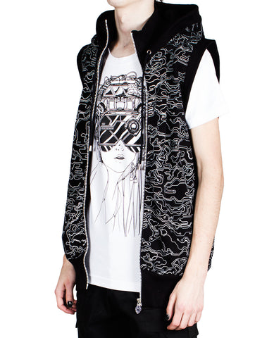 MENS SPACE ZIP GILET MICROCAMO