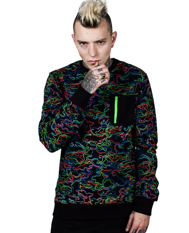 MENS MICROCAMO SWEAT