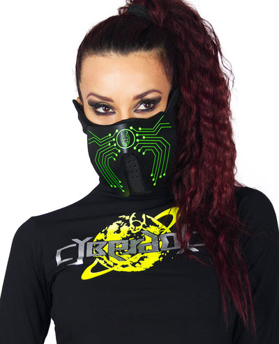CYBERDOG MICROCHIP MASK by Cyberdog - Rave clothing, festival fashion & clubwear.