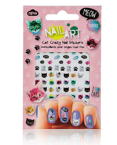 NAIL ART STICKER CAT CRAZY