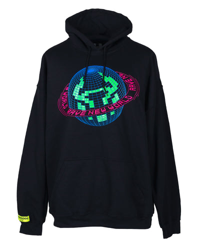 OVERSIZE RAVE NEW WORLD HOODIE by Cyberdog - Rave clothing, festival fashion & clubwear.