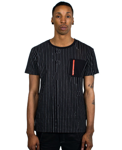 POCKET TEE PINSTRIPE