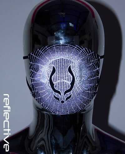 PRINTED MASK WORMHOLE by Cyberdog - Rave clothing, festival fashion & clubwear.
