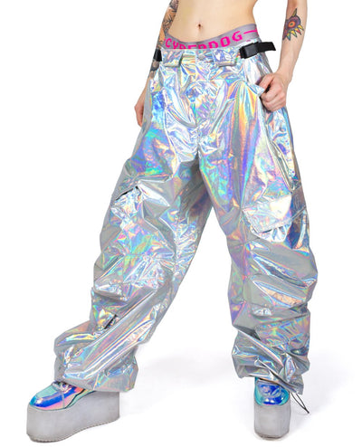 PROTON PANTS HOLOGRAPHIC by Cyberdog - Rave clothing, festival fashion & clubwear.
