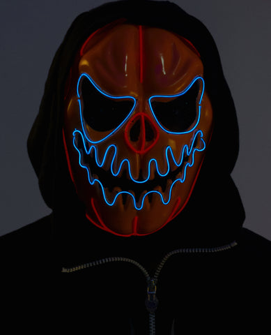 PUMPKIN HEAD LIGHT UP MASK