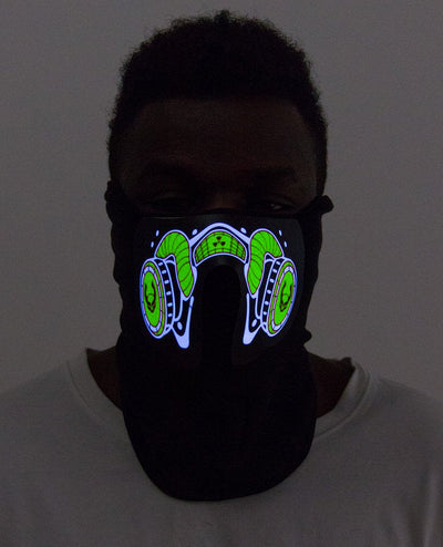 CYBERDOG RADIOACTIVE MASK by Cyberdog - Rave clothing, festival fashion & clubwear.