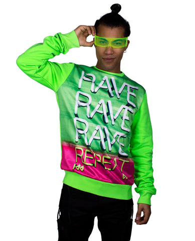 MENS SWEAT RAVE REPEAT