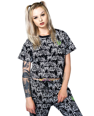 RAVELUTION EASY CROP TEE by Cyberdog - Rave clothing, festival fashion & clubwear.