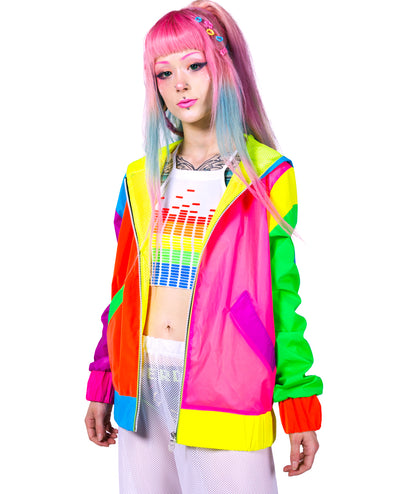 REFLECTIVE CLUB BOMBER JACKET by Cyberdog - Rave clothing, festival fashion & clubwear.