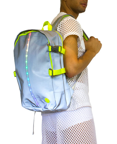 RIDER LIGHT UP BACKPACK (EX DISPLAY) by Cyberdog - Rave clothing, festival fashion & clubwear.