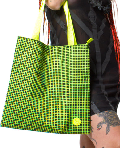 RUBBERIZED SHOPPER BAG
