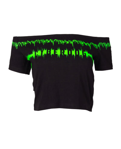 ELLE CROP TEE SOUNDWAVE by Cyberdog - Rave clothing, festival fashion & clubwear.