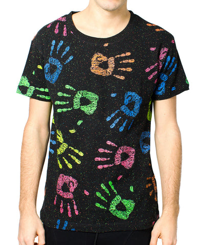 SPECLE T S/S ALL OVER HANDS