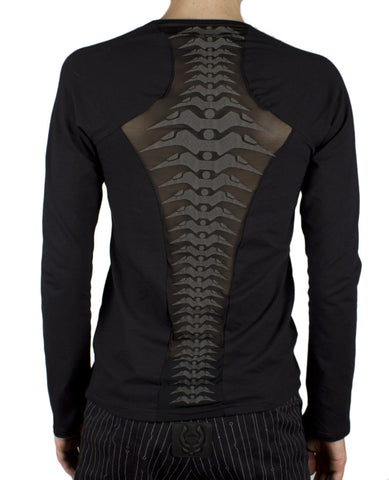 MENS SPINED MESH L/S TOP