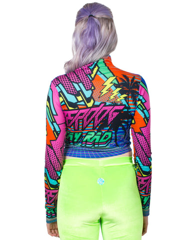 STAY RAD CROP L/S