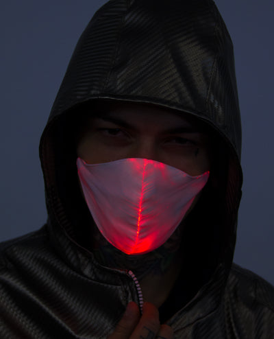 LIGHT UP SURGICAL MASK by Cyberdog - Rave clothing, festival fashion & clubwear.