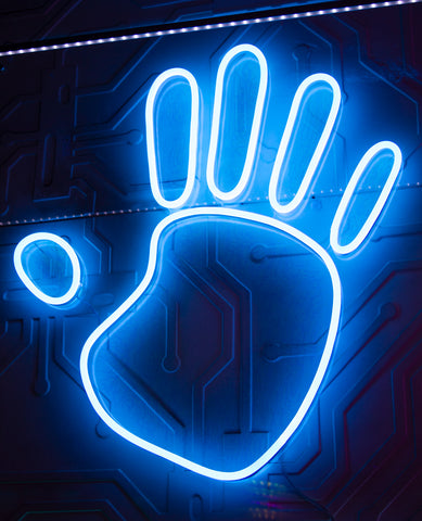 TALK TO THE HAND NEON LIGHT