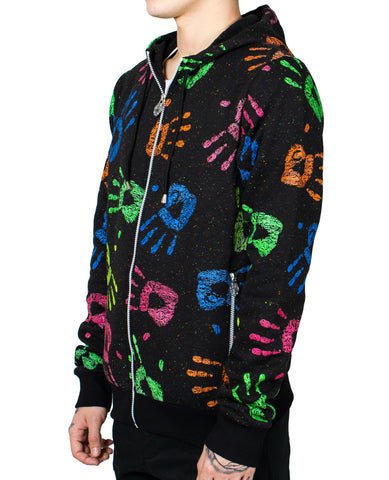 MENS TALK TO THE HAND ZIP HOODIE