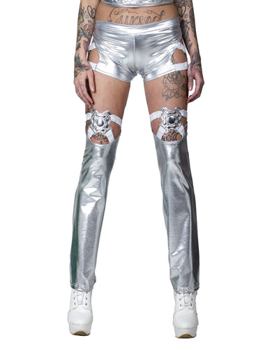 XXX PARASITE THIGH HIGHS by Cyberdog - Rave clothing, festival fashion & clubwear.
