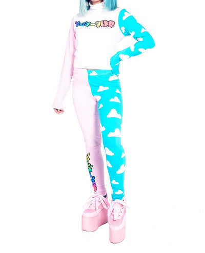 CLOUD PL-AI LEGGINGS by Cyberdog - Rave clothing, festival fashion & clubwear.