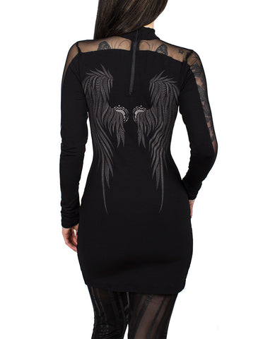 GIGA WING MESH DRESS