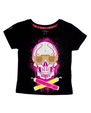 KIDS GIRLS S/S SKULL