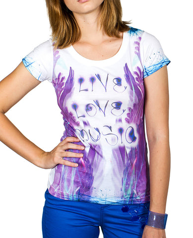 GIRLS DIGITAL S/S LOVE HANDS
