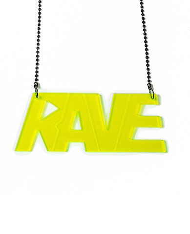 RAVE PERSPEX NECKLACE