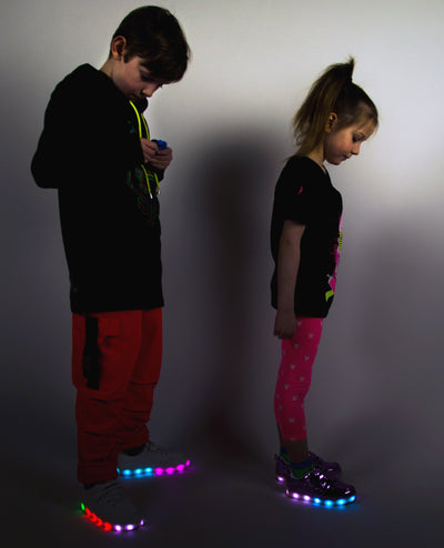 KIDS LIGHT UP SHOES ICARUS by Cyberdog - Rave clothing, festival fashion & clubwear.