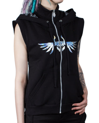 GIRLS SPACE ZIP GILET GUARDIAN ANGEL