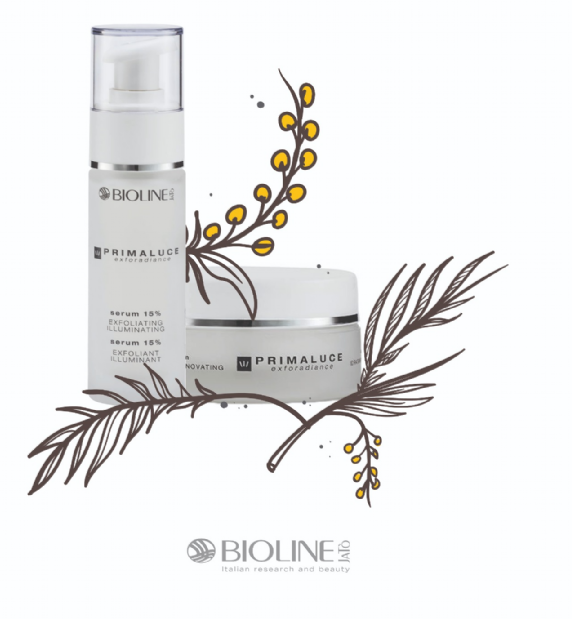 Bioline Primaluce Brightening Illuminating Emulsion + Primaluce Serum 15% Exfoliating Renovating